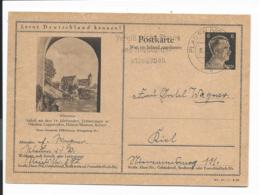 DR P 307 42-16-B12 - 6 Pf Hitler BiPo: Allenstein, M. Werbestpl. Plauen N. Kiel Bedarfsverwendet - Germania