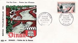N°1315 De 1961 -  FDC  -  Dinan, Vallée De La  Rance - 1960-1969