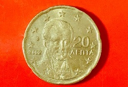 GRECIA - 2002 - Moneta - Ritratto Di Ioannis Capodistrias (1776-1831), Politico - Euro - 0.20 - Grèce