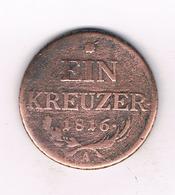 1 KREUZER 1816 A   OOSTENRIJK /9003/ - Austria