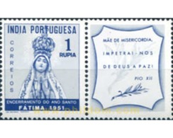 Ref. 612388 * HINGED * - PORTUGUESE INDIA. 1951. HOLY YEAR . AÑO SANTO - Portugiesisch-Indien