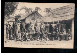 Congo Français  Marché Indigene A Leketi (Haute Alima) 1912  Old Postcard - Congo Français - Autres