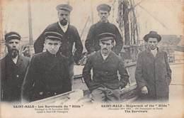 """SAINT MALO - Les Survivants Du """"Hilda"""" - Naufragé Le 19 Novembre 1905 Ayant à Bord 120 Passagers - CPA - Bateau - Saint Malo"""
