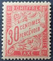 R1692/464 - 1893 - TIMBRE TAXE - LUXE - N°33d (I) NEUF** Papier GC - Taxes