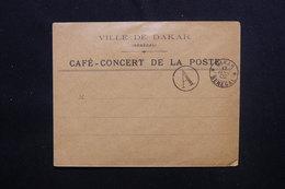 SÉNÉGAL - Oblitération De Dakar + Cachet A Sur Enveloppe à Entête En 1902, Non Voyagé - L 48730 - Sénégal (1887-1944)