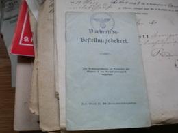 WW2 Nazy Amtsgericht Favoriten Wien Dormunds Bestellungsdekret 1941 - 1939-45
