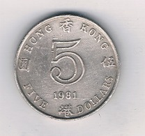 5 DOLLAR  1981 HONGKONG /9015/ - Hong Kong