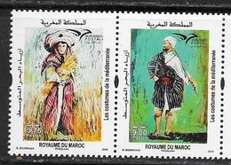 MOROCCO, 2019, MNH, EUROMED, COSTUMES OF THE MEDITERRANEAN, 2v - Costumes