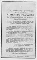 Roesbrugge Poperinge BROEDER Albertus Pauwels 1939 - Oude Documenten