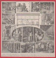 Huilerie. Huile D'olive. Broyeur, Moulin, Pressoir. Illustration Maurice Dessertenne. Larousse 1931. - Documents Historiques