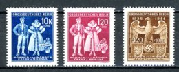 Böhmen & Mähren   ---   Y&T   112 - 114    X     Mi   133 - 135    ---     TTB - Oblitérés