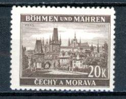 Böhmen & Mähren   ---   Y&T    60    X     Mi    61   ---    TTB - Oblitérés