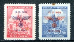 Böhmen & Mähren   ---   Y&T    76A - 76B    X     Mi    83 - 84   ---    TTB - Bohême & Moravie