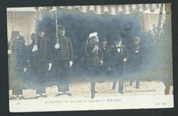 27 - Carte Photo - 27 - Alphonse XIII Au Camp De Chalons Juin 1905  - Maca0105 - Familias Reales