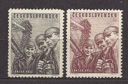 Czechoslovakia 1951 MNH ** Mi 653-654 Sc 448-449 Apprentice Miners. Bergbau. Tschechoslowakei - Tchécoslovaquie