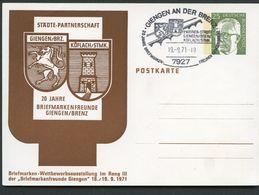 WAPPEN GIENGEN/BRENZ KÖFLACH/STEIERMARK Bund PP45 D2/002  Sost. 1971 NGK 5,00 € - Briefe U. Dokumente