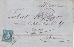 LETTRE. 1871. GARE DE MACON    / 3 - Postmark Collection (Covers)