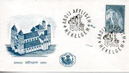 BELGIQUE. N°1334 De 1965 Sur Enveloppe 1er Jour. Abbaye D'Affligem. - Abbazie E Monasteri
