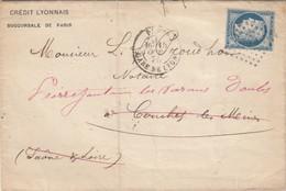 LETTRE. 1875 PARIS GARE DE LYON    / 3 - 1849-1876: Periodo Classico