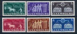 1951- LUSSEMBURGO -CONSIGLIO D' EUROPA - 6 VAL.  - M.N.H.- LUXE !! - Luxemburg