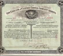 New England And Clifton Copper Company Of Arizona - 1907 - Mijnen