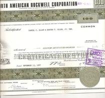 North American Rockwell Corporation - Aandelen