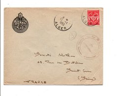 ALGERIE LETTRE FM DE ALGER POUR LA FRANCE 1953 - Covers & Documents
