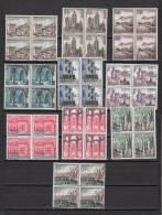España Nº 1541 Al 1550 En Bloque De Cuatro - 1961-70 Nuevos & Fijasellos
