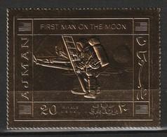 AJMAN - ESPACE - N° PA 68 ** Timbre Or (1970)  APOLLO 11 - Espacio