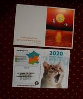 Lot De 2 Calendriers De Poche 2020 ( Chat + Coucher De Soleil Avec Cigognes ?) - Calendarios