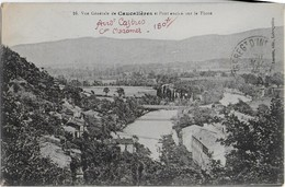CAUCALIERES ( Tarn )Vue Générale -Pont Ancien Sur Le Thoré   ( Mai 1916 ; Carte écrite Par,unroldat Partant Pour Verdun - Otros Municipios