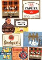 BR 9 étiquettes, Bieretiket  PATERKE MAES Export,Caulier,Imperial, WAARLOOS,Edelquel,Grimbergen, Lunchbeer, Stout Scotch - Bière