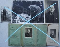 Photox3 + Souvenir Mortuaire + 1 Carte D'identité WATERLOO Résistant Fusillé Le 4 Septembre 1944 Résistance Brabant - Places