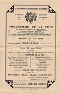 1938 MASCARA 2è Régiment De Tirailleurs Algériens Programme Fête Médaille Militaire Au Drapeau - Documenti
