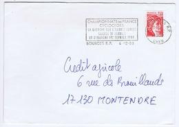 CHER - Flamme Illustrée à Gauche BOURGES R.P. Du 4 - 12  1980 - Championnat De France Cyclocross La Guerche - Marcophilie (Lettres)