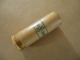 Cartouche Pour Lance Fusée Rouge En Carton Datée 80 - Equipment