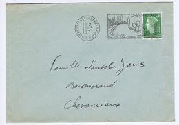 CHARENTE-MARITIME - Flamme Illustrée à Droite CHEVANCEAUX Du 16 - 3  1971 - Marcophilie (Lettres)