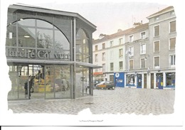 88 - Epinal - Rue Georgin - Publicité Buro + - (carte Double) - Epinal