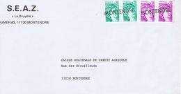 CHARENTE-MARITIME -Cachet Linéaire MONTENDRE - Cachets Manuels