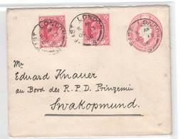 Kap Der Guten Hoffnung , 1906 , Ganzsache Nach Deutsch Südwestafrika - Grossbritannien (alte Kolonien Und Herrschaften)