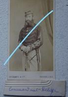 Photo CDV Circa 1865 Officier Armée Belge ABL Cavalerie Sabre Photographe DECHAMPS Bruxelles Belgische Leger Militaria - Photographs