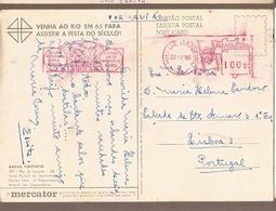 Brazil & Marcofilia, Tourism Serie, Partial View Of Copacabana, Rio De Janeiro To Lisbon Portugal 1965 (301) - Brazilië