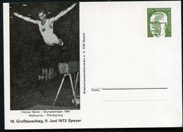 Bund PP45 D2/006 H. BANTZ PFERDSPRUNG OLYMPIASIEGER MELBOURNE 1956 Speyer 1972 - [7] République Fédérale