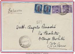 R.S.I. 02 - REPUBB.SOCIALE ITALIANA 1944 - Lettera Espresso 2° Porto - Marcophilia