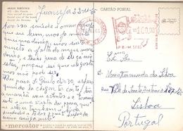 Brazil & Marcofilia, Tourism Serie, Sao Vicente Beach, Treasury S.P, Guaruja To Lisbon Portugal 1965 (475) - Brazilië