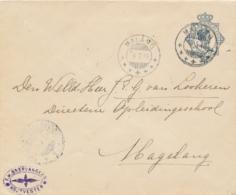 Nederlands Indië - 1916 - 10 Cent Envelop G39a Van KB Malang Via Treinstempel KB SOERABAJA-BANDOENG +B+ Naar KB Magelang - Nederlands-Indië