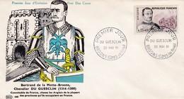 N°1295  De 1961  Fdc  Bertrand Du Guesclin - FDC