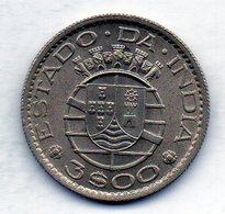 INDIA PORTUGUESE, 3 Escudos, Copper-Nickel, Year 1959, KM #34 - Indonesia