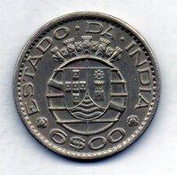 INDIA PORTUGUESE, 6 Escudos, Copper-Nickel, Year 1959, KM #35 - Indonesia