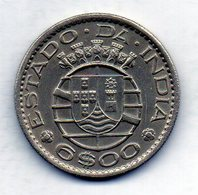 INDIA PORTUGUESE, 6 Escudos, Copper-Nickel, Year 1959, KM #35 - Indonésie